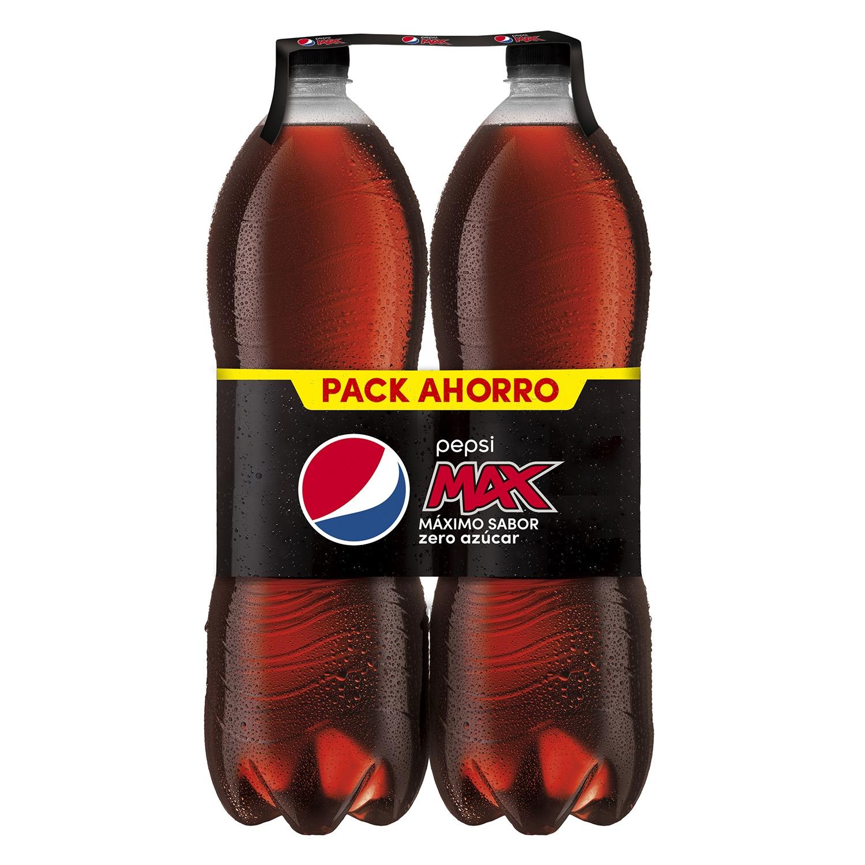 Refresco de cola Pepsi Max zero pack de 2 botellas de 2 l.