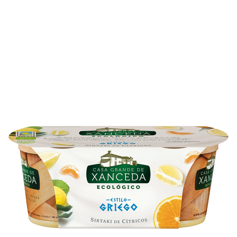 Yogur estilo griego de cítricos ecológico Casa Grande de Xanceda 300 g.