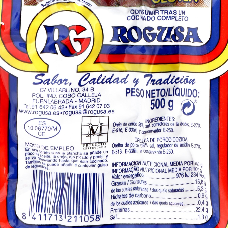 Oreja de Cerdo Cocida Rogu 500 g - 3