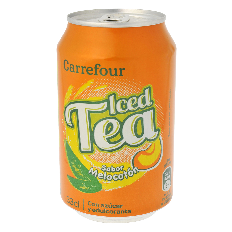 Refresco de té Carrefour sabor melocotón lata 33 cl.
