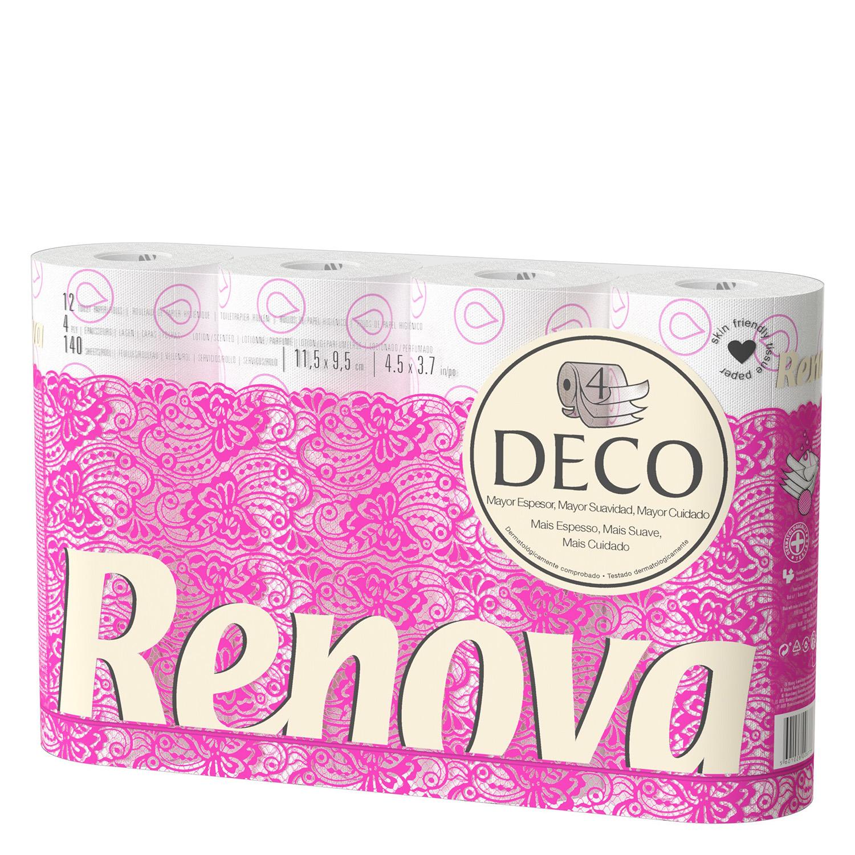 Papel higi nico 4 capas decorado renova carrefour for Precio de papel vinilico