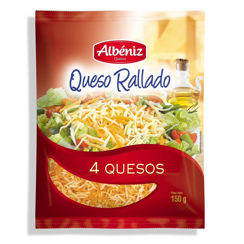 Queso rallado 4 quesos Albeniz 150 g.