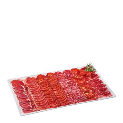 Tabla embutidos ibéricos bellota loncheado Juan Luna envase 300 g