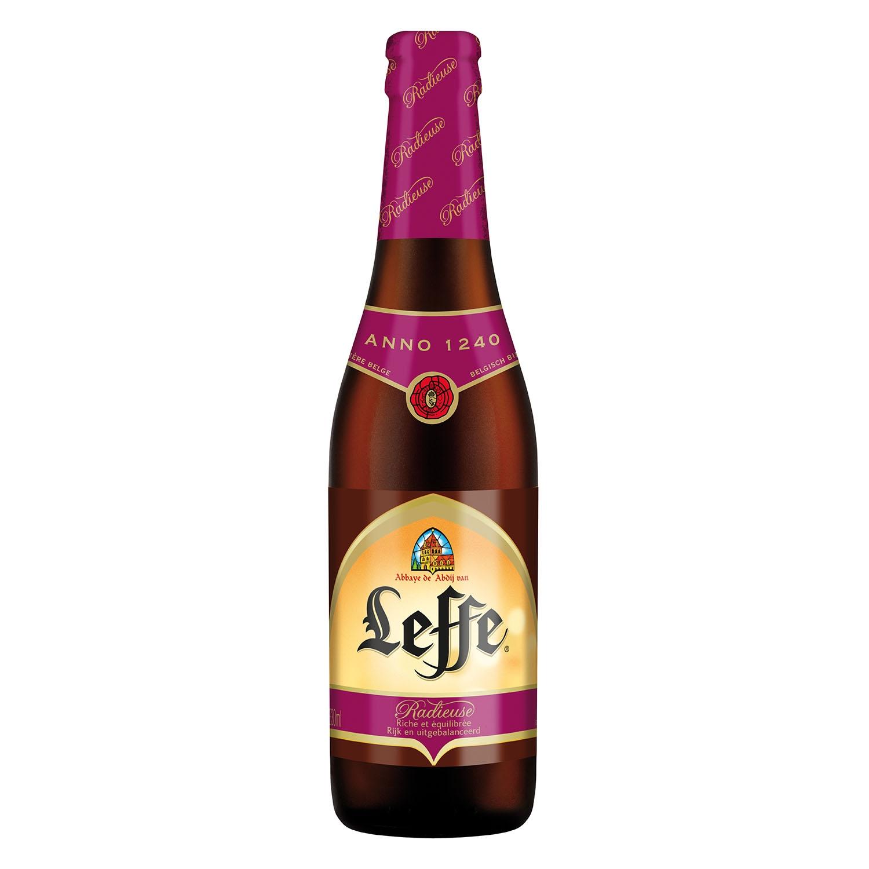 Cerveza Leffe Radieuse belga tostada botella 33 cl.