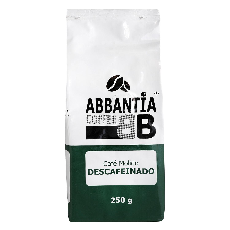 Café molido natural descafeinado Abbantia 250 g.
