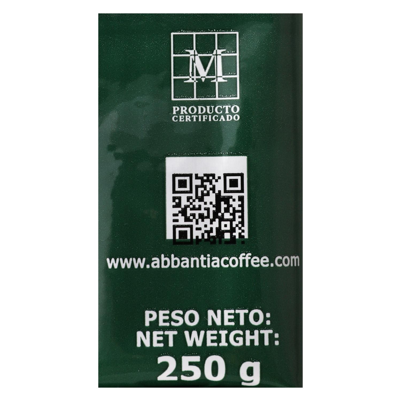 Café molido natural descafeinado Abbantia 250 g. -