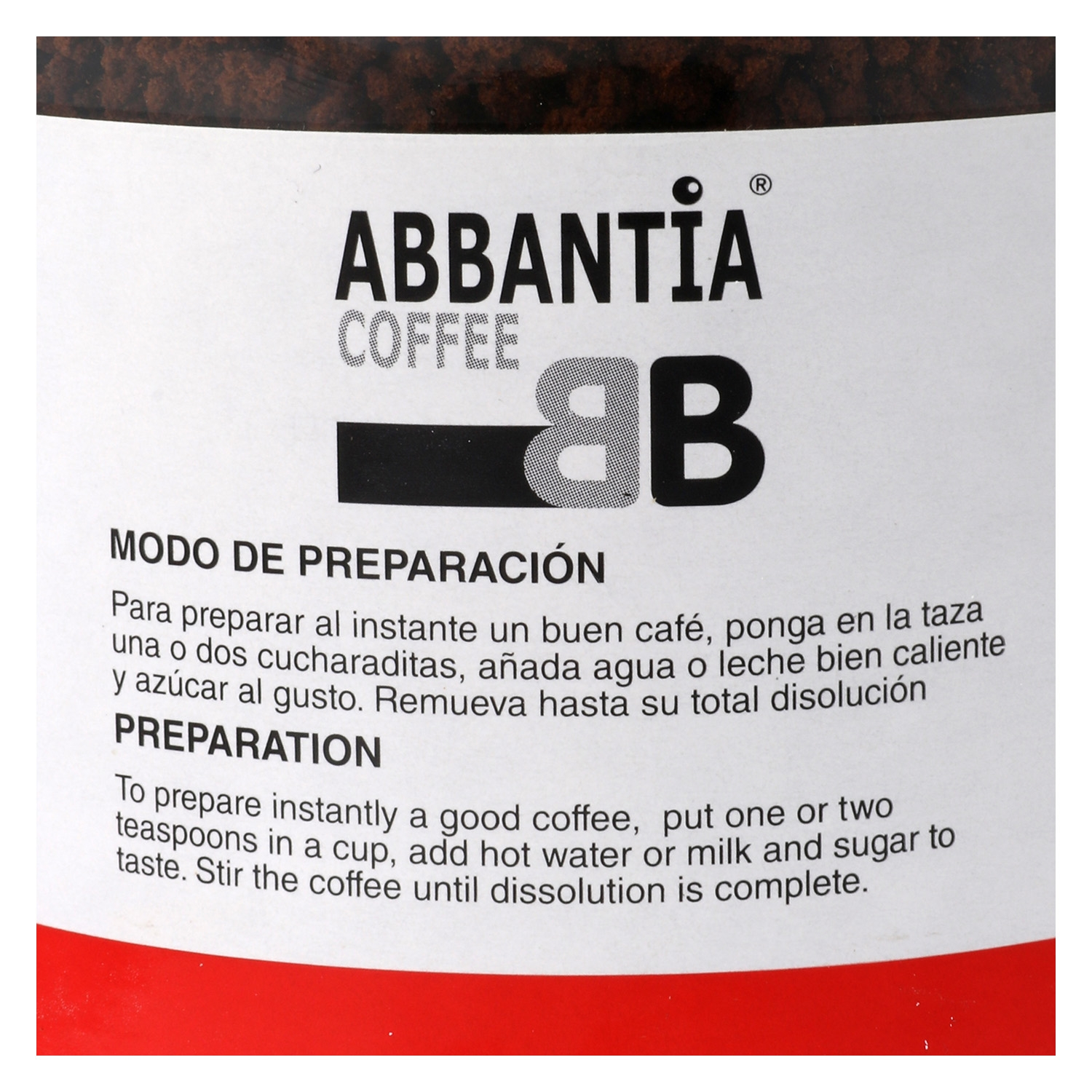 Café soluble natural Abbantia 200 g. - 2