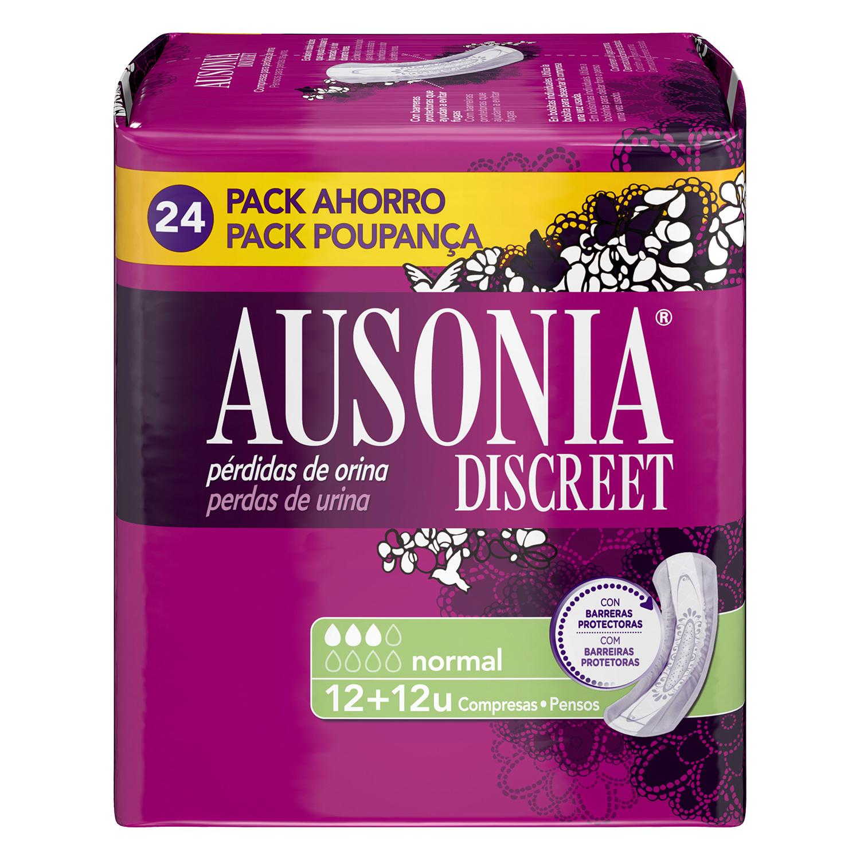 Compresas para pérdidas de orina normal Ausonia Discreet 24 ud.
