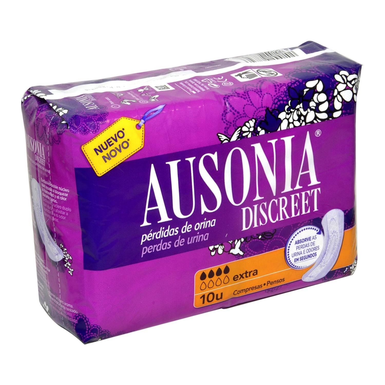 Compresas para pérdidas de orina extra Ausonia Discreet 10 ud.