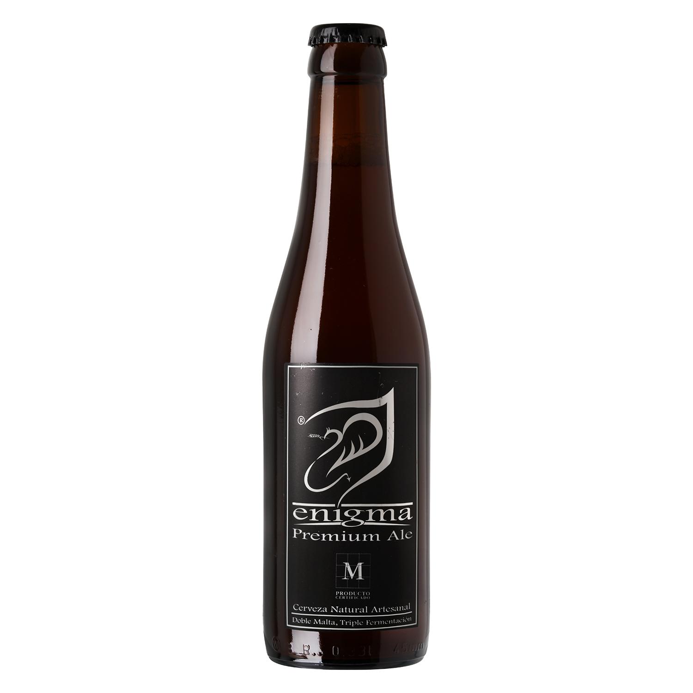 Cerveza artesana Enigma Premium Ale botella 33 cl.