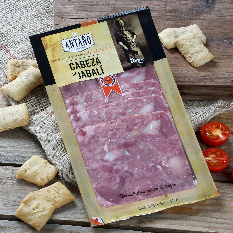Cabeza de jabalí ibérico loncheado De Antaño 100 g -
