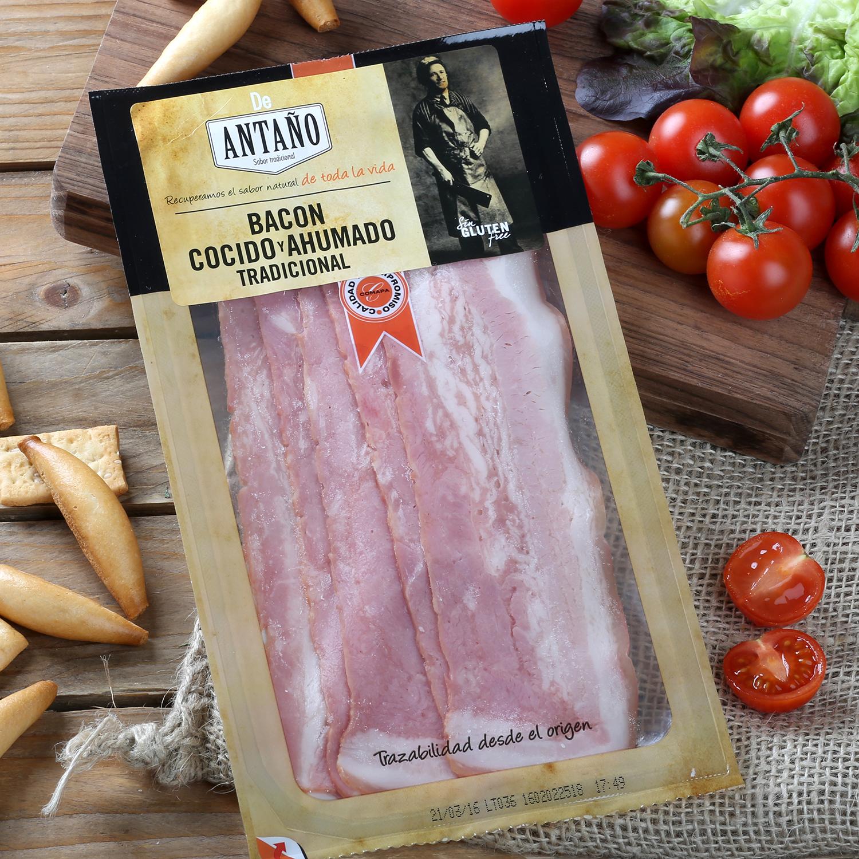 Bacon cocido y ahumado tradicional -
