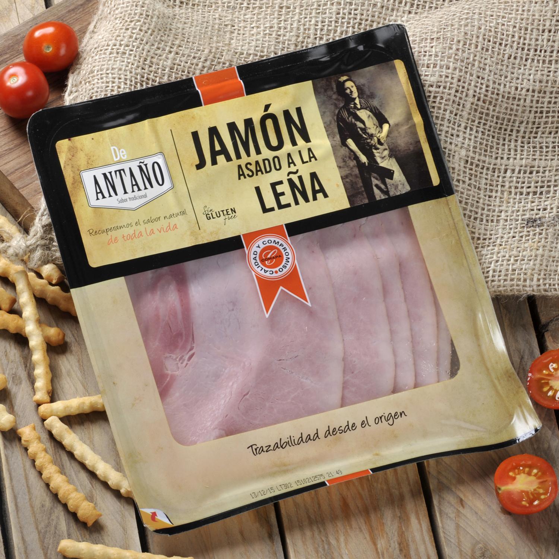 Jamón cocido extra asado a la leña loncheado De Antaño 180 g