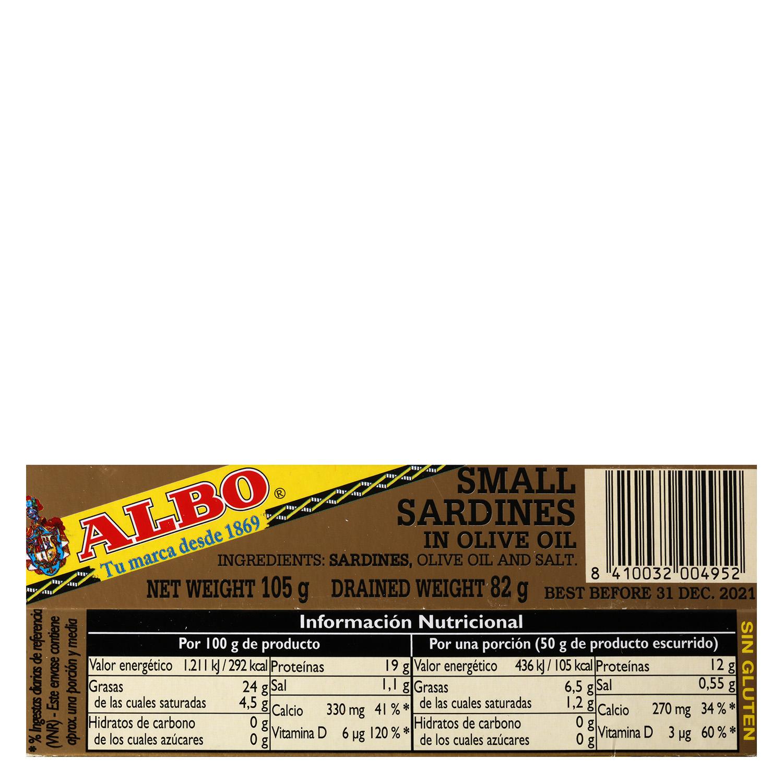 Sardinillas en aceite de oliva -