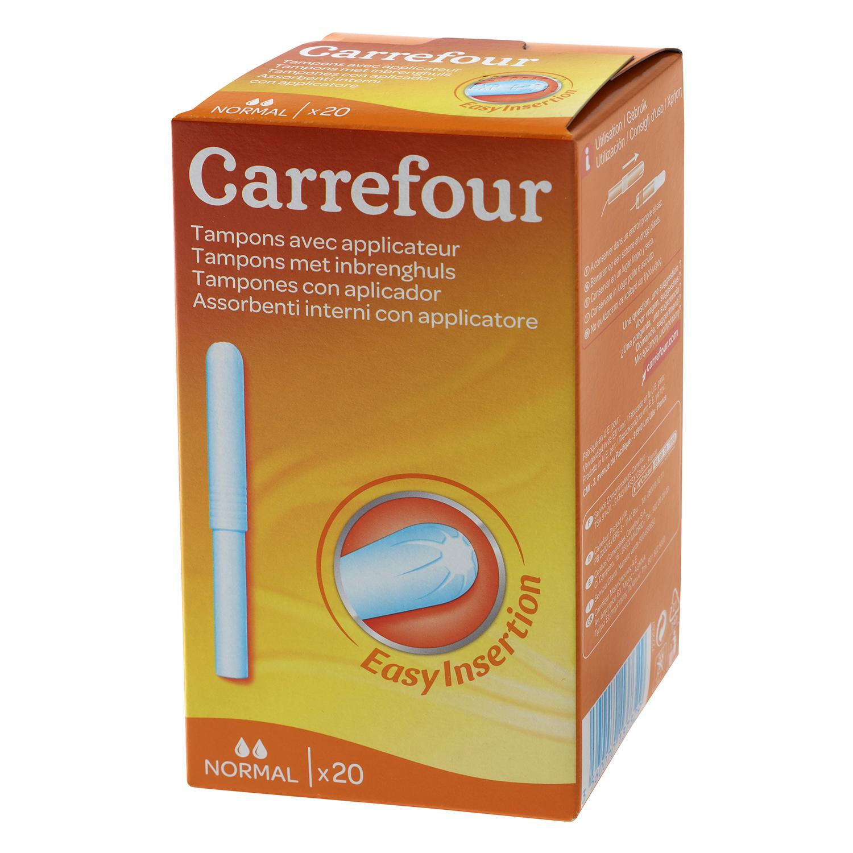 Tampones con aplicador normal Carrefour 20 ud.