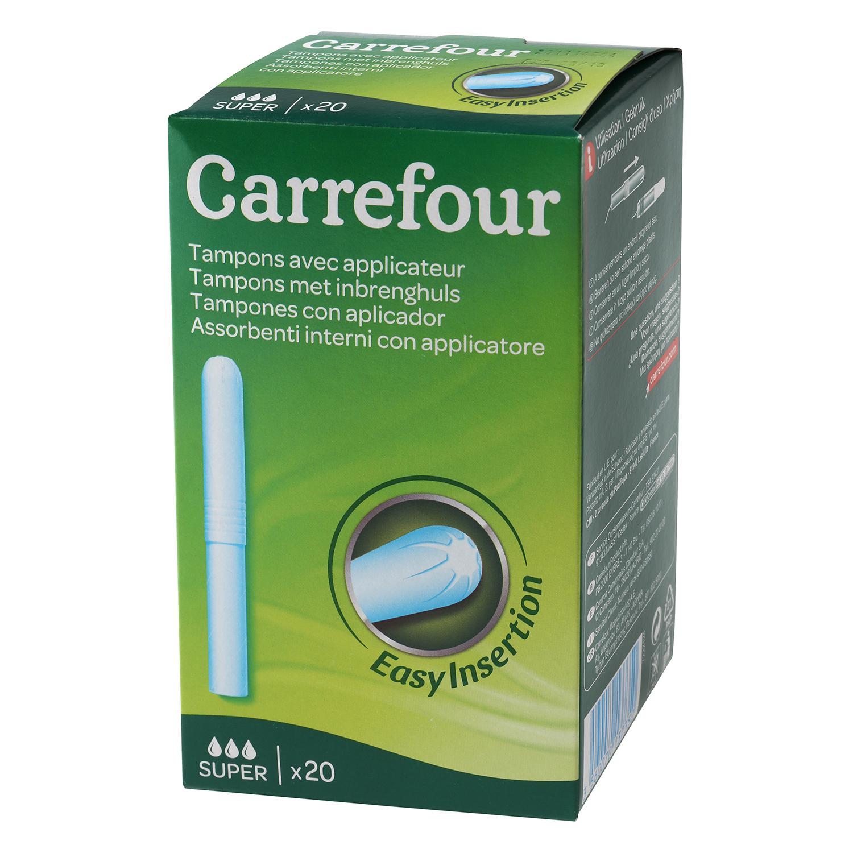 Tampones con aplicador super Carrefour 20 ud.