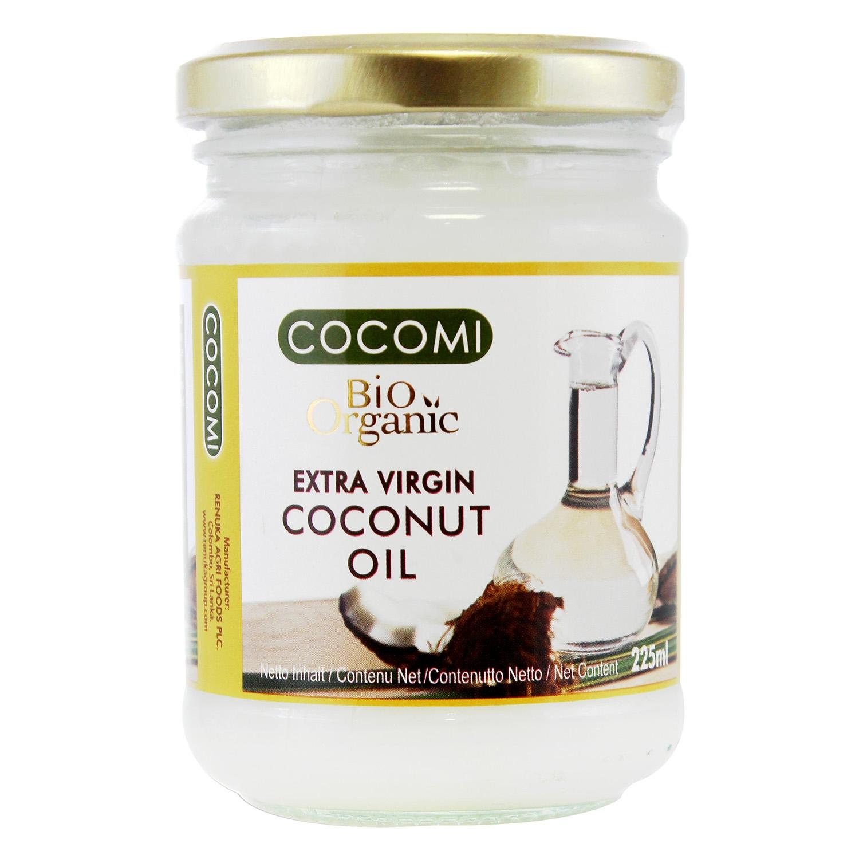 Aceite de coco virgen extra ecológico Cocomi tarro 225 ml.