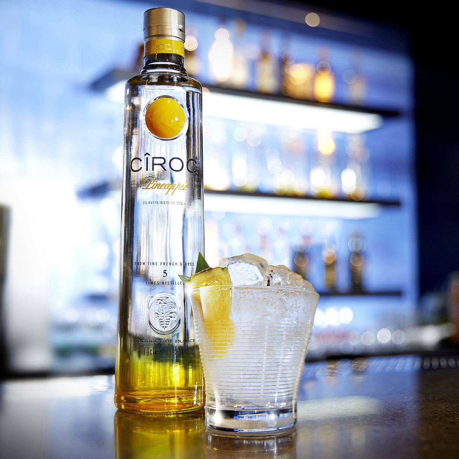 Vodka Cîroc sabor piña 75 cl. -