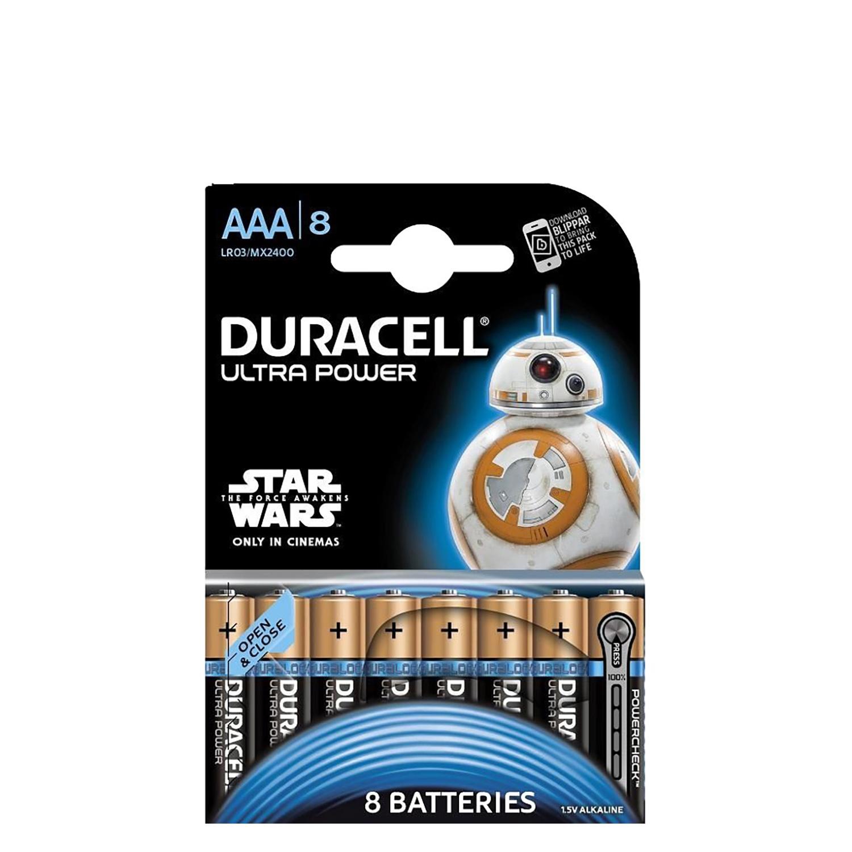 8 Pilas LR03 AAA Duracell Ultra -