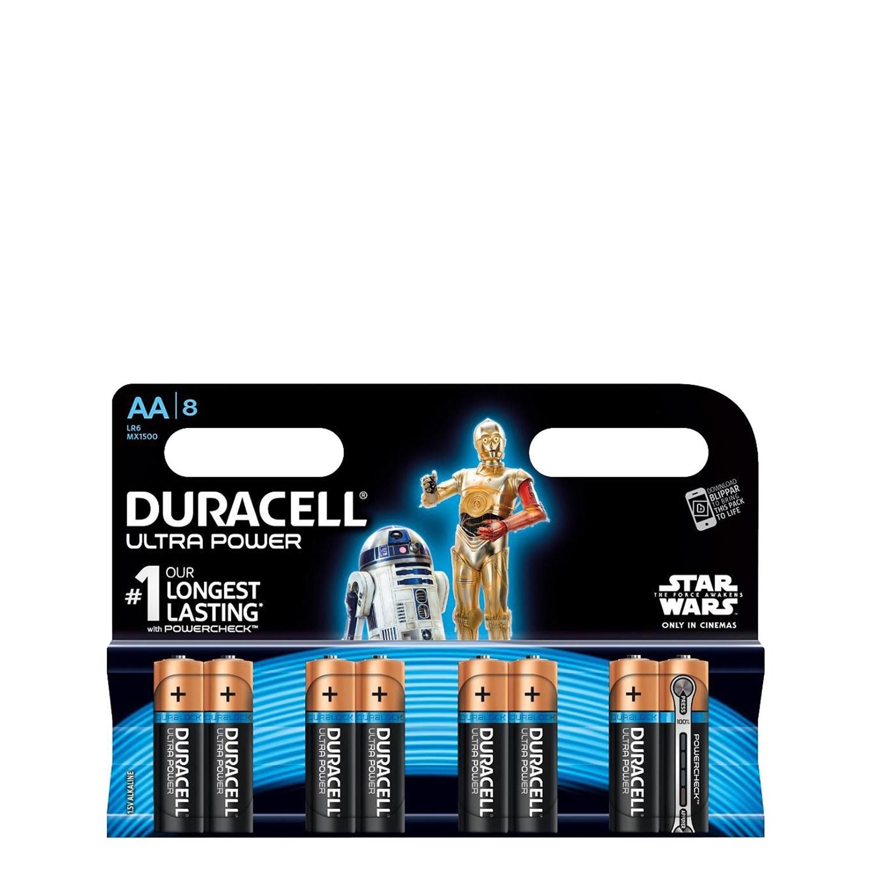 8 Pilas LR06 AA Duracell Ultra -
