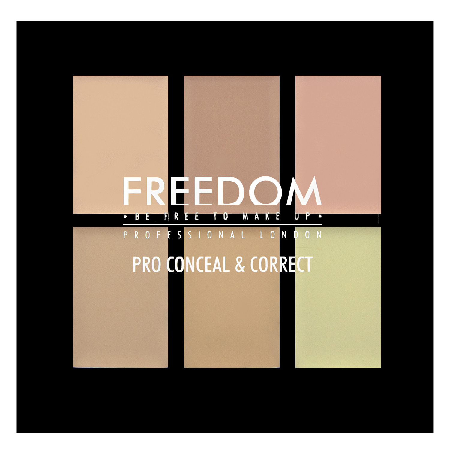 Paleta 6 colores Pro Correct & Concel Light Freedom 1 ud.