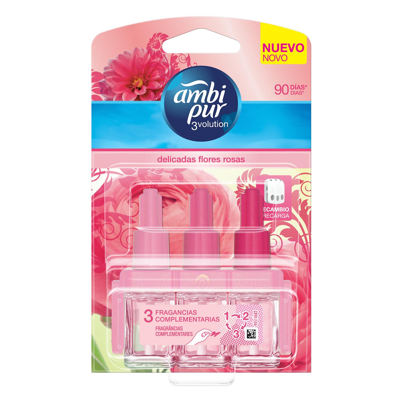 Ambientador Eléctrico 3Volution Delicadas Flores Rosas