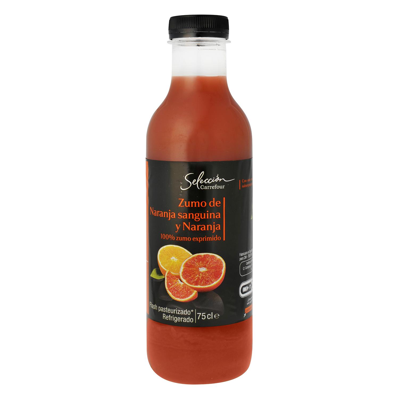 Zumo de naranja sanguina y naranja