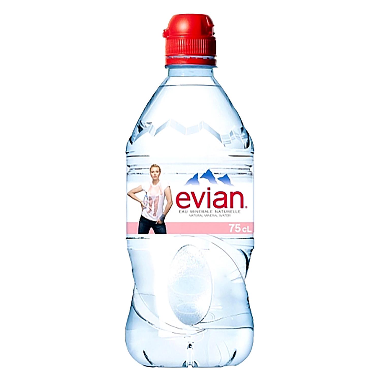 Agua mineral Evian natural 75 cl.