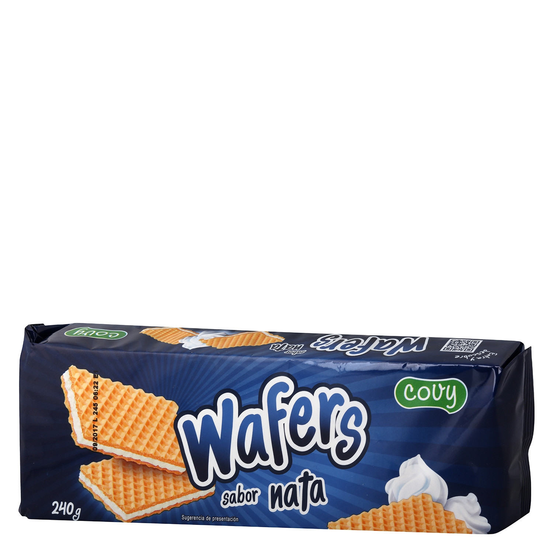 Galletas de barquillo sabor nata Wafers 240 g.