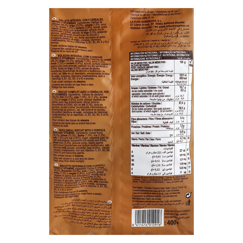 Galletas 5 cereales -
