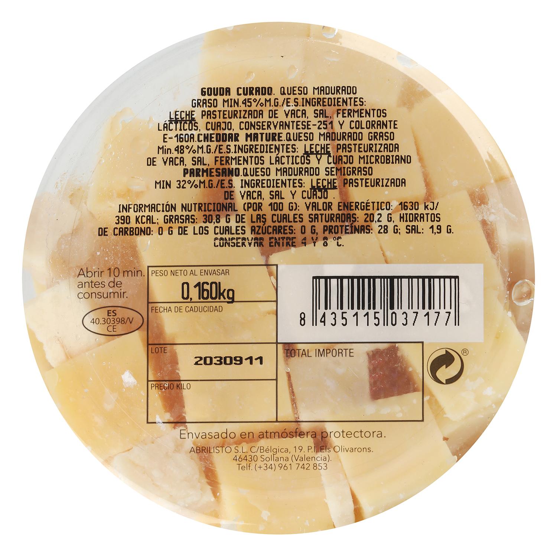 Snack mixto queso parmesano, cheddar mature y gouda curado - 2