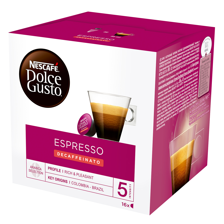 Café espresso suave descafeinado en cápsulas
