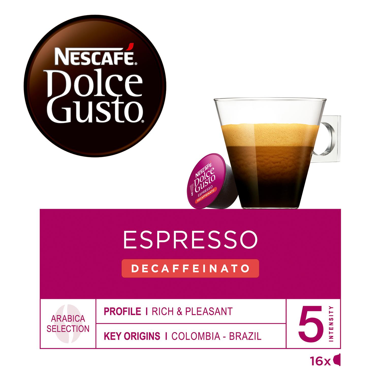 Café espresso suave descafeinado en cápsulas -