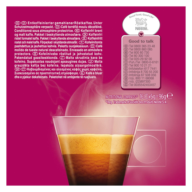 Café espresso descafeinado en cápsulas Nescafé Dolce Gusto 16 unidades de 6 g. - 3