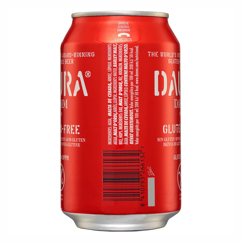 Cerveza Daura sin gluten lata 33 cl. -