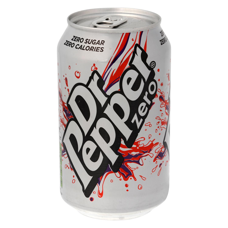 Refresco Dr. Pepper con gas zero lata 33 cl.