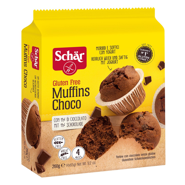 Muffins con chocolate sin glutén
