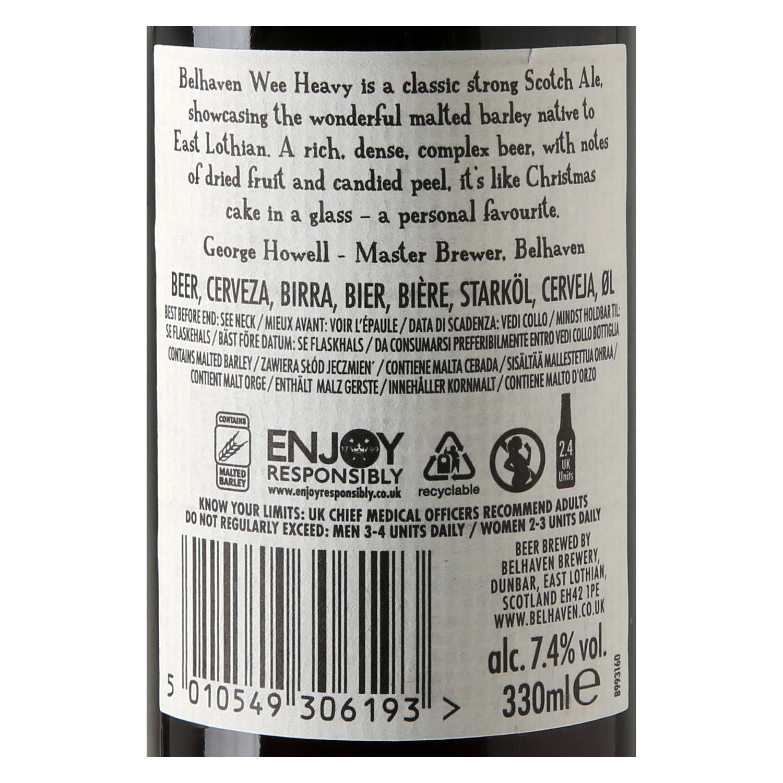 Cerveza Belhaven 90 Wee Heavy botella 33 cl. -