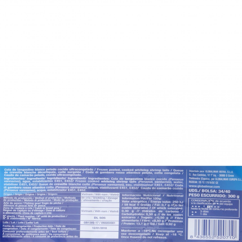 Cola de langostino cocido pelado Aligator 300 g - 3