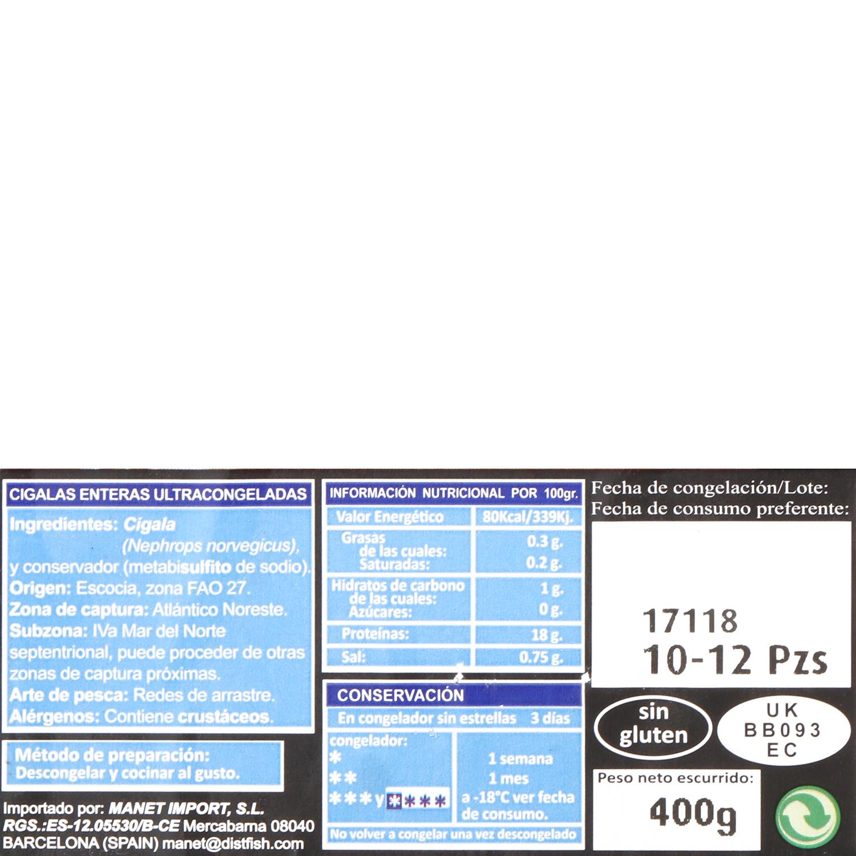 Cigala cruda Carrefour 400 g - 3