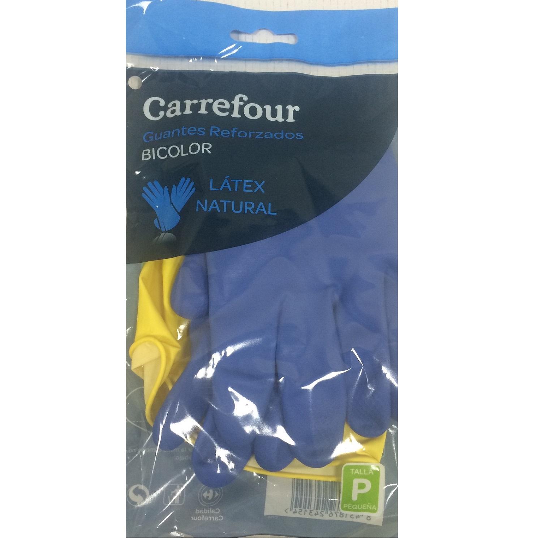 2 Guantes reforzados de Látex Carrefour  P - Bicolor