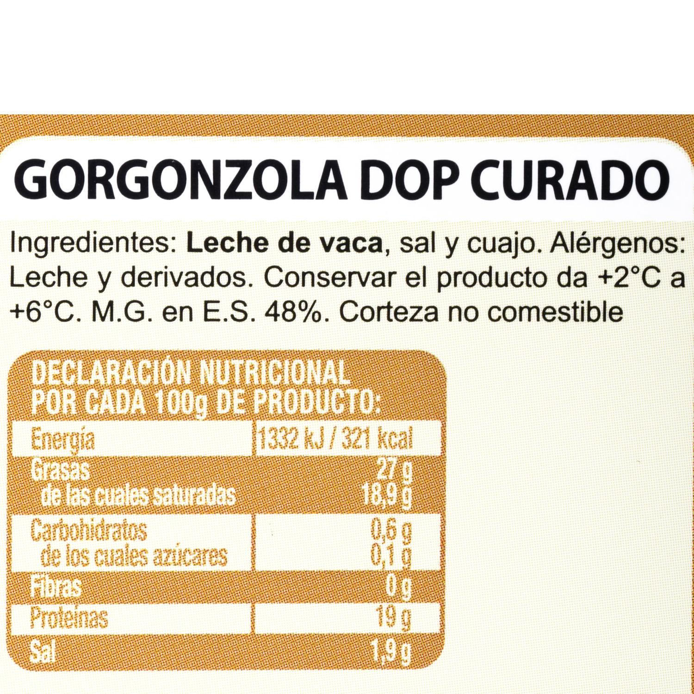 Queso azul gorgonzola curado D.O.P. Hispano Italiana cuña 180 g - 3