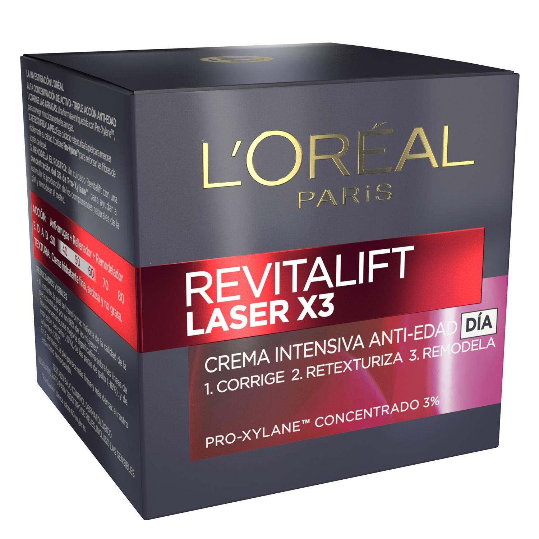 Crema intensiva antiedad día Revitalift Laser X3
