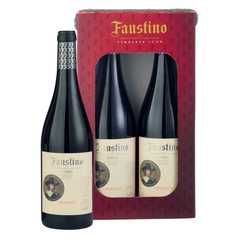 LOTE 70: 2 botellas D.O.Ca. Rioja Faustino tinto crianza