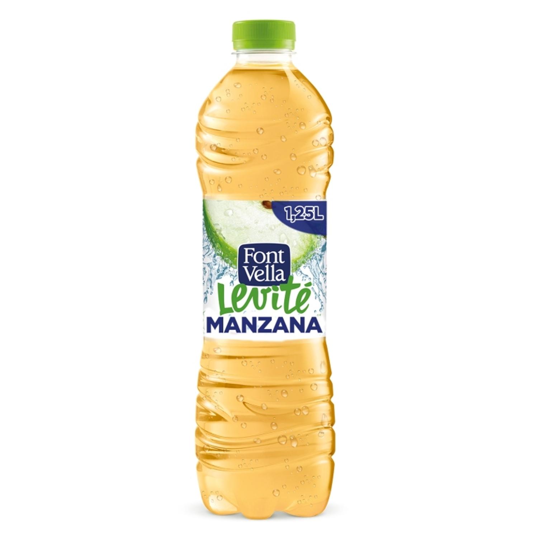 Agua mineral Font Vella Levité con zumo de manzana 1,25 l.