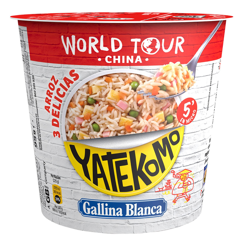 Arroz tres delicias Yatekomo