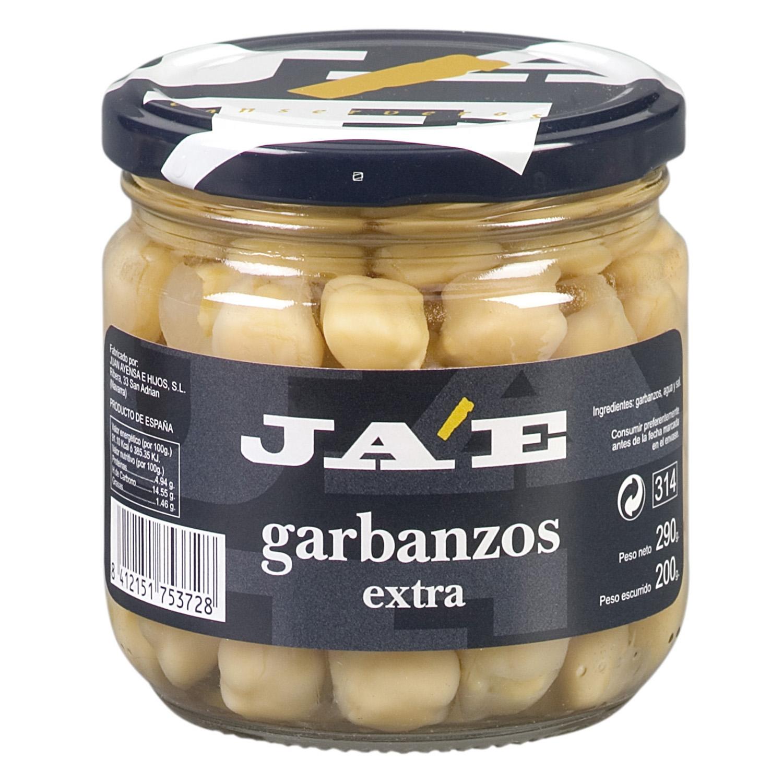 Garbanzo cocido Jae categoría extra 200 g.