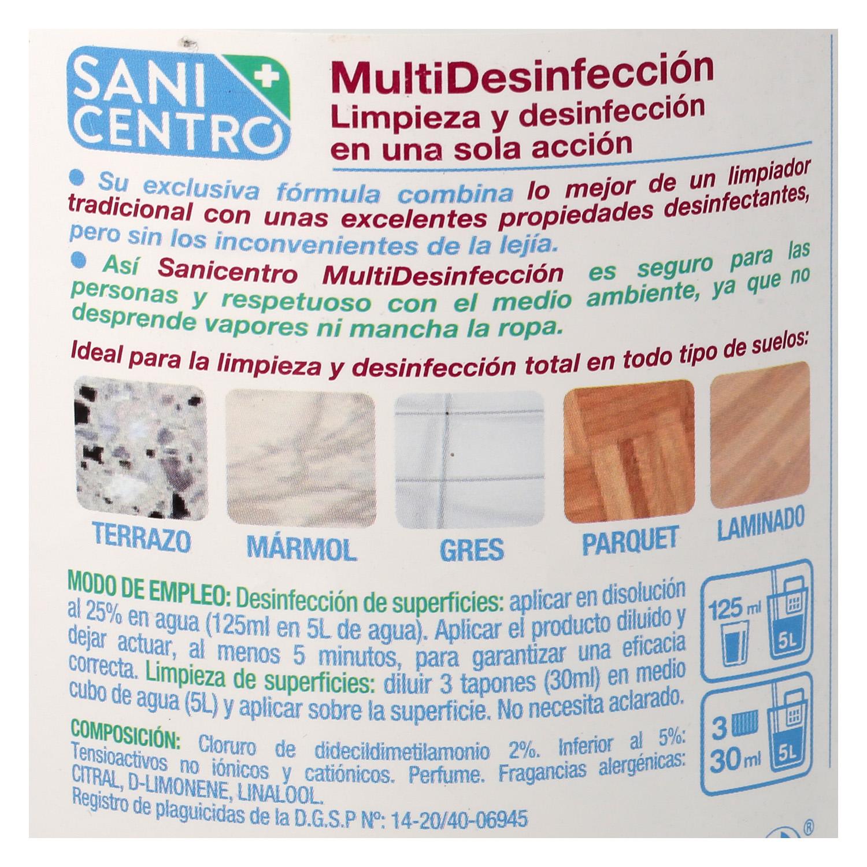 Fregasuelos multi-desinfección Sanicentro 1,5 l. - 2