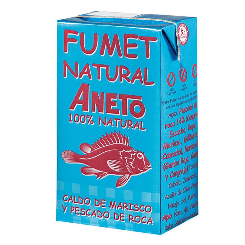 Fumet natural Caldo de marisco y pescado de roca