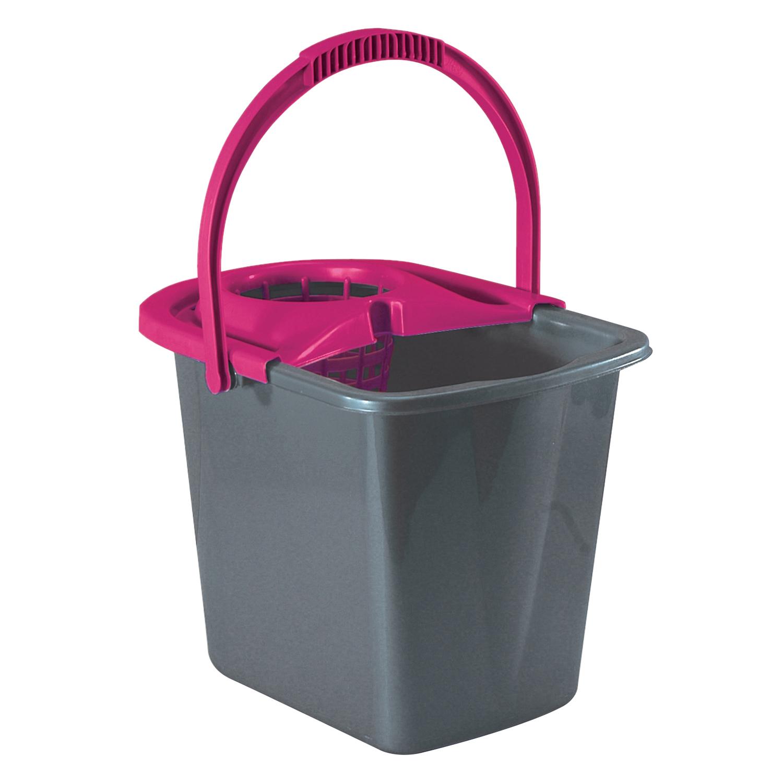 Cubo  de fregar de Plástico Carrefour  14 Litros - Pizarra